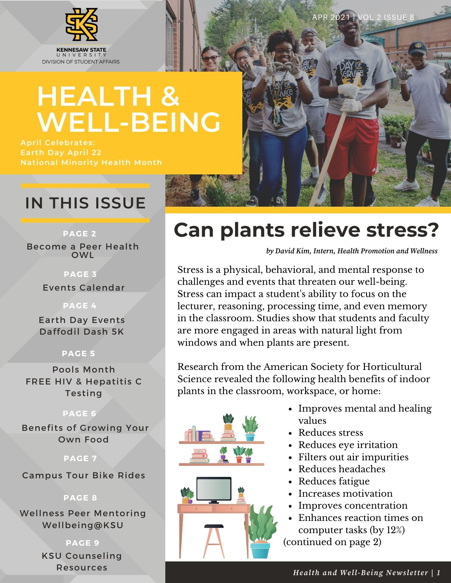 Health Wellbeing newletter cover image.